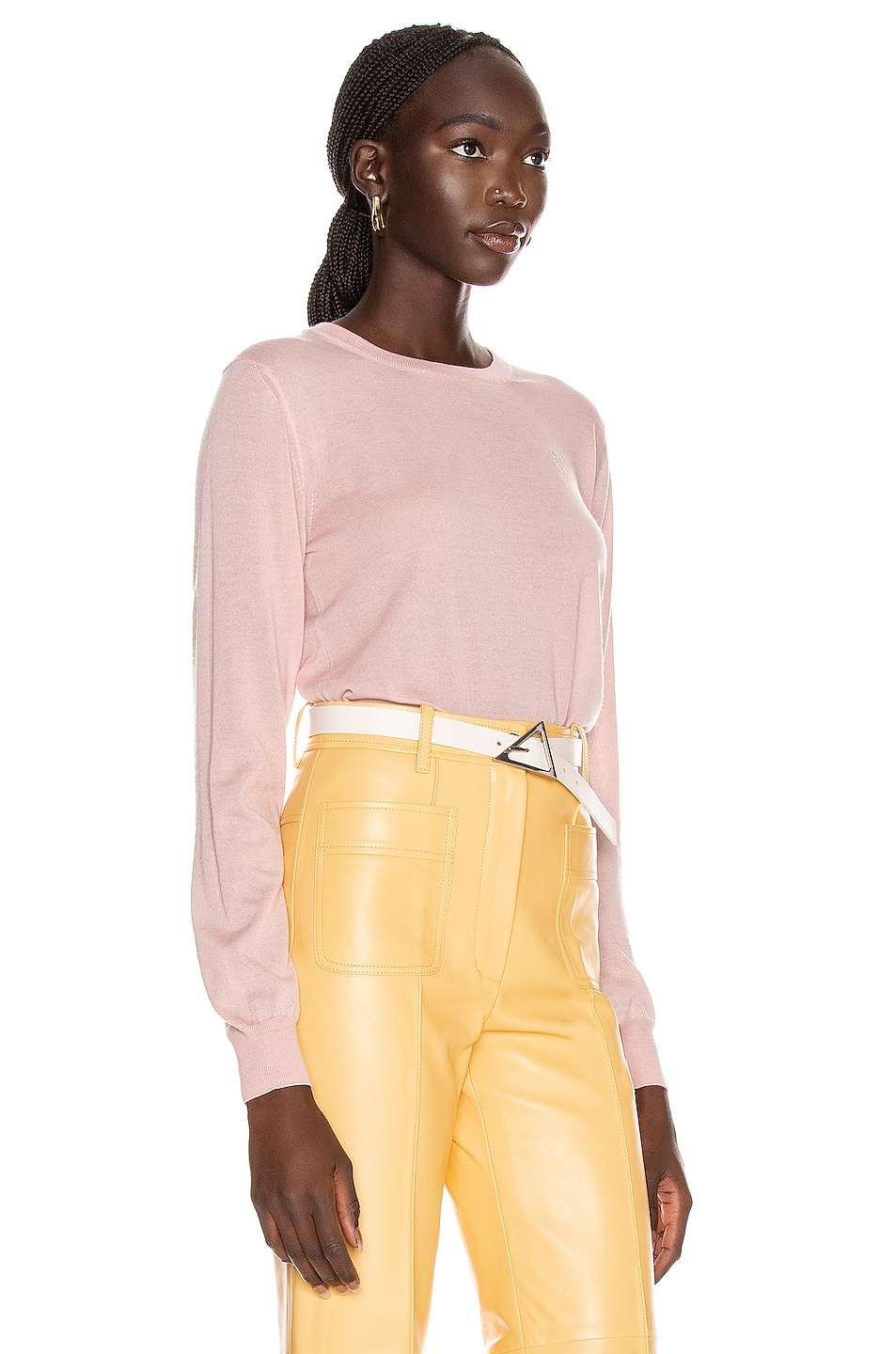 Image 2 of Loewe Anagram Sweater in Baby Pink