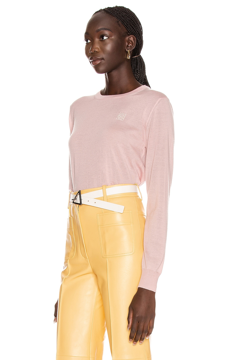 Image 3 of Loewe Anagram Sweater in Baby Pink