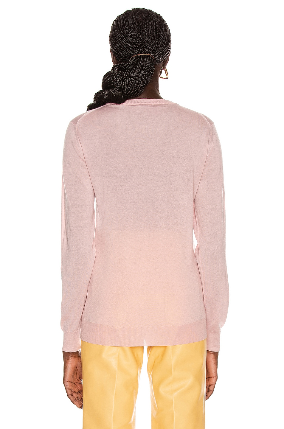 Image 4 of Loewe Anagram Sweater in Baby Pink