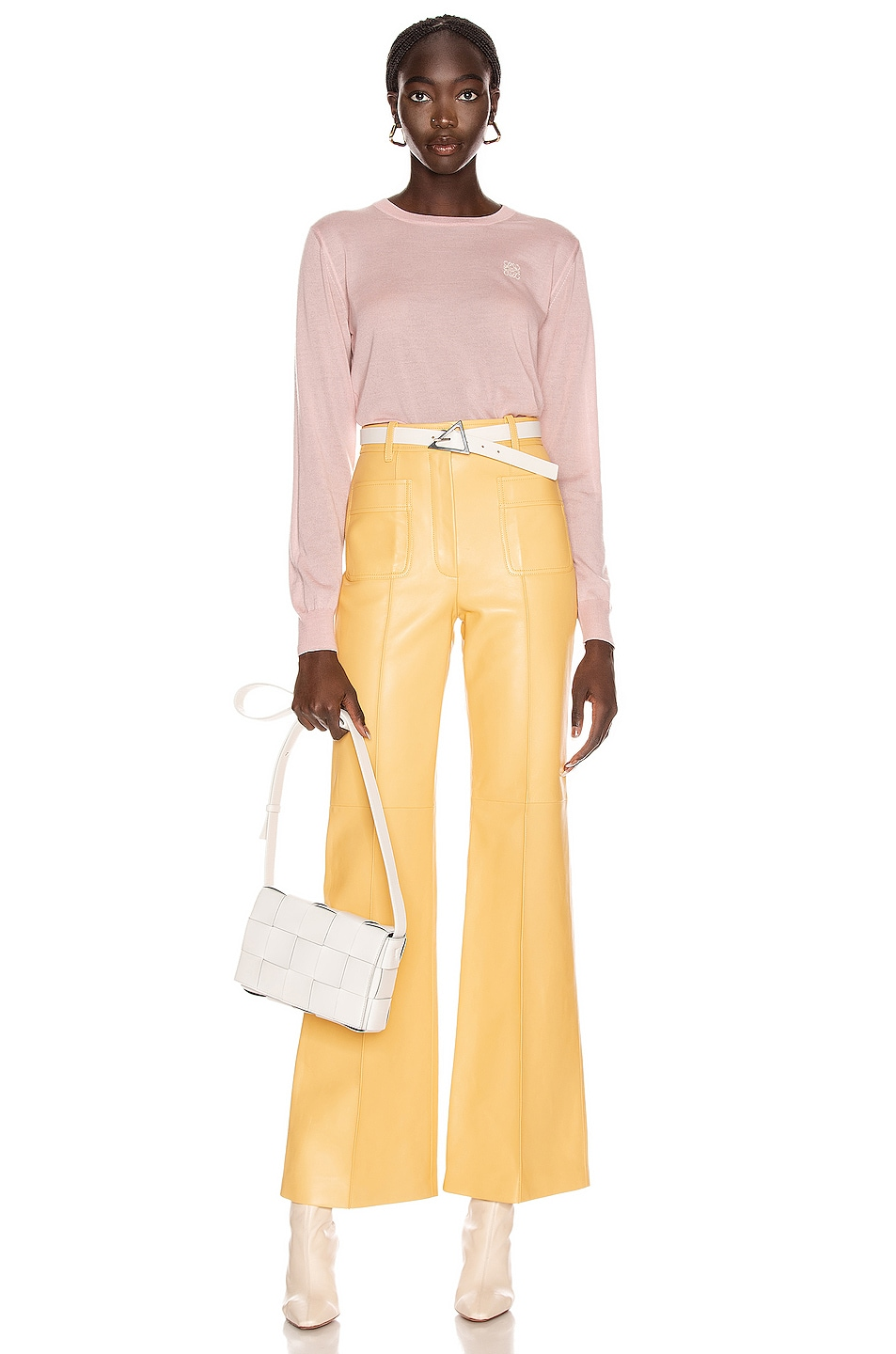 Image 5 of Loewe Anagram Sweater in Baby Pink