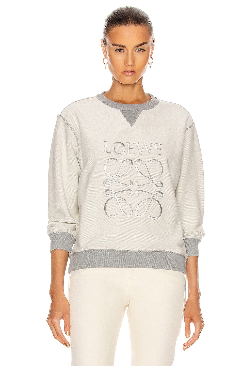 Image 1 of Loewe Anagram Sweatshirt in Grey Melange