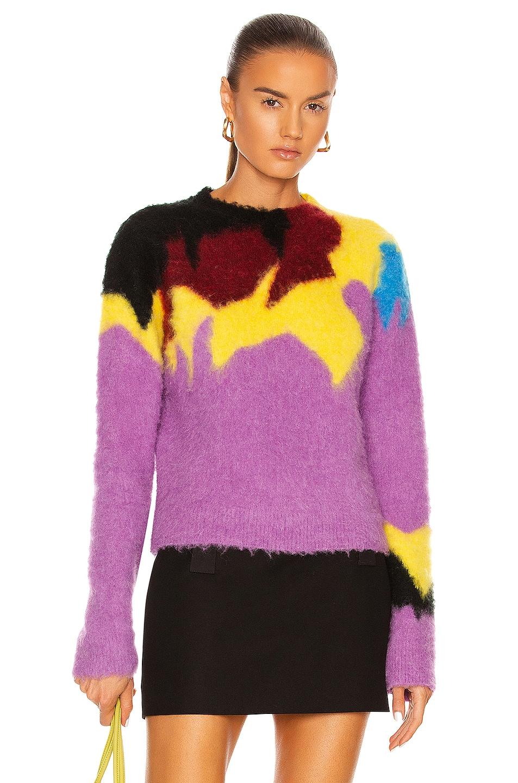 Image 1 of Loewe Intarsia Crewneck Sweater in Lilac & Multicolor