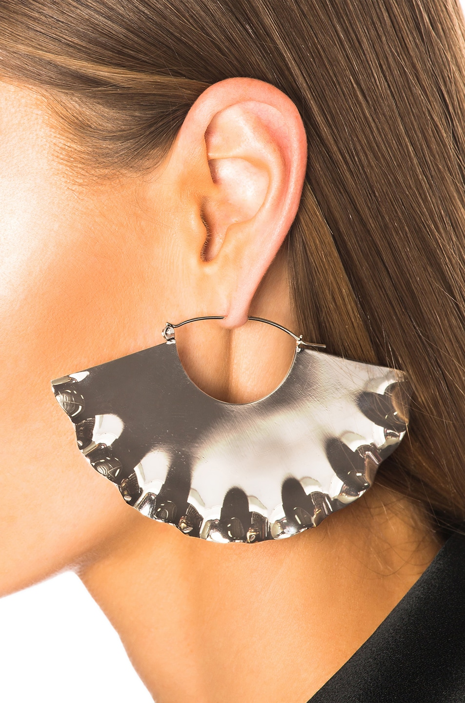 Image 4 of Loewe Frills Earrings in Palladium