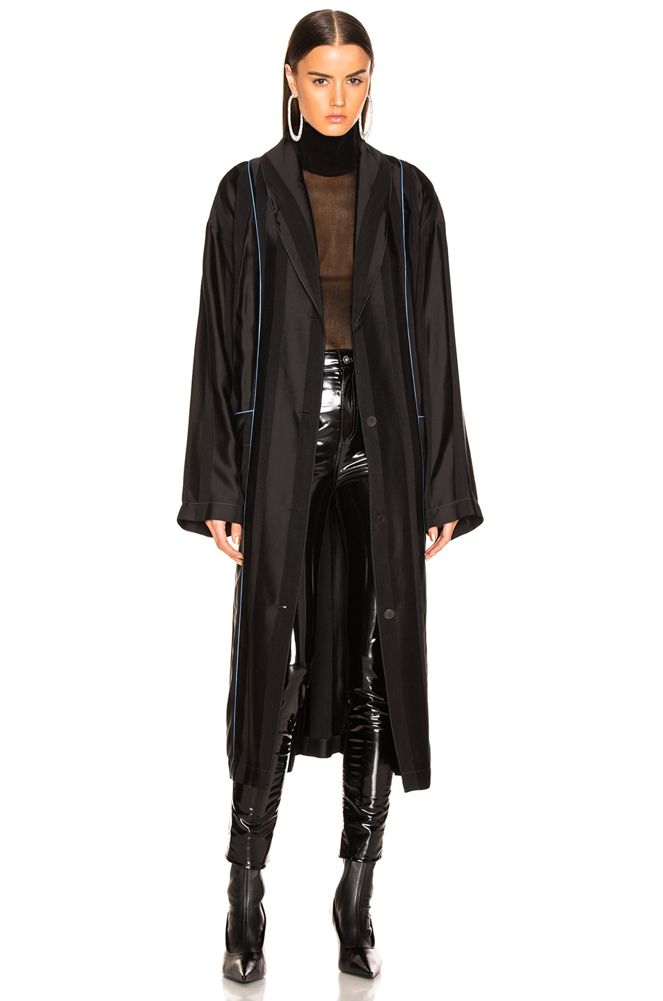 Image 2 of Loewe Duster Coat in Black & Blue