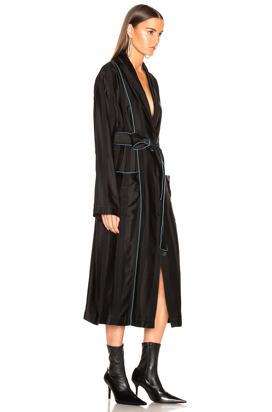 Image 3 of Loewe Duster Coat in Black & Blue