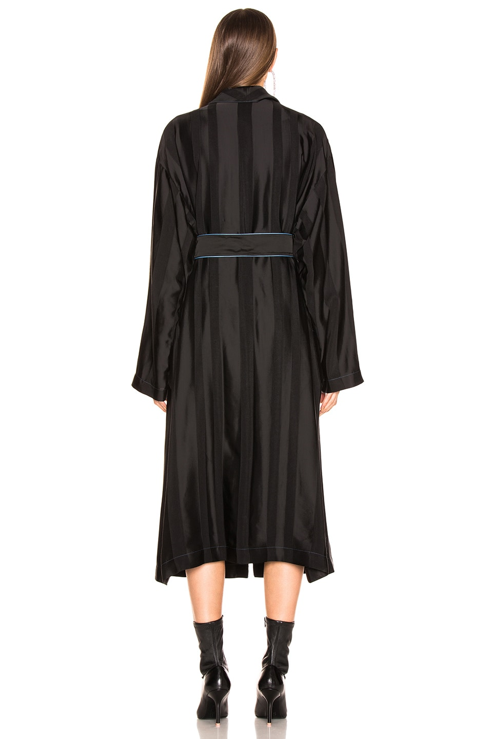 Image 4 of Loewe Duster Coat in Black & Blue