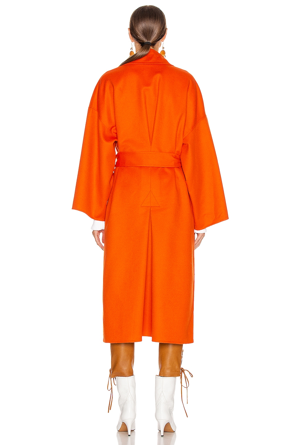 Image 4 of Loewe Oversized Belted Coat in Orange