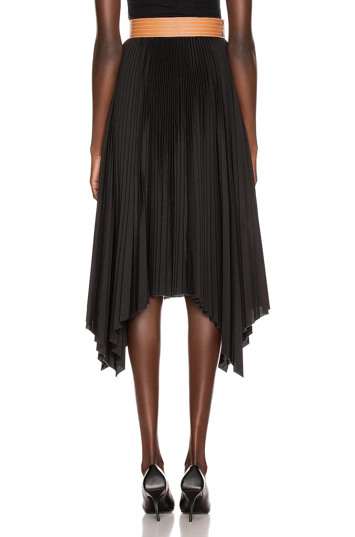 Image 3 of Loewe Pleated Skirt in Black & Tan