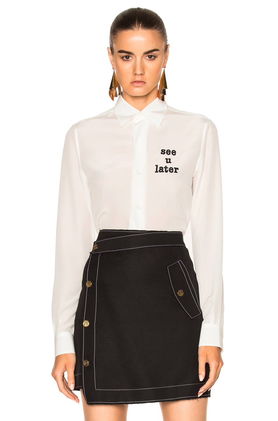 Image 1 of Loewe See You Later Shirt in White