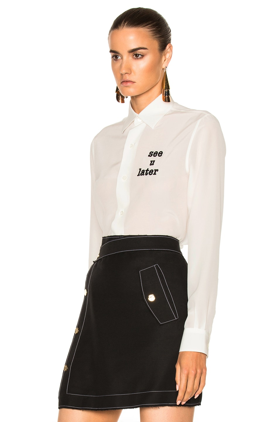 Image 2 of Loewe See You Later Shirt in White