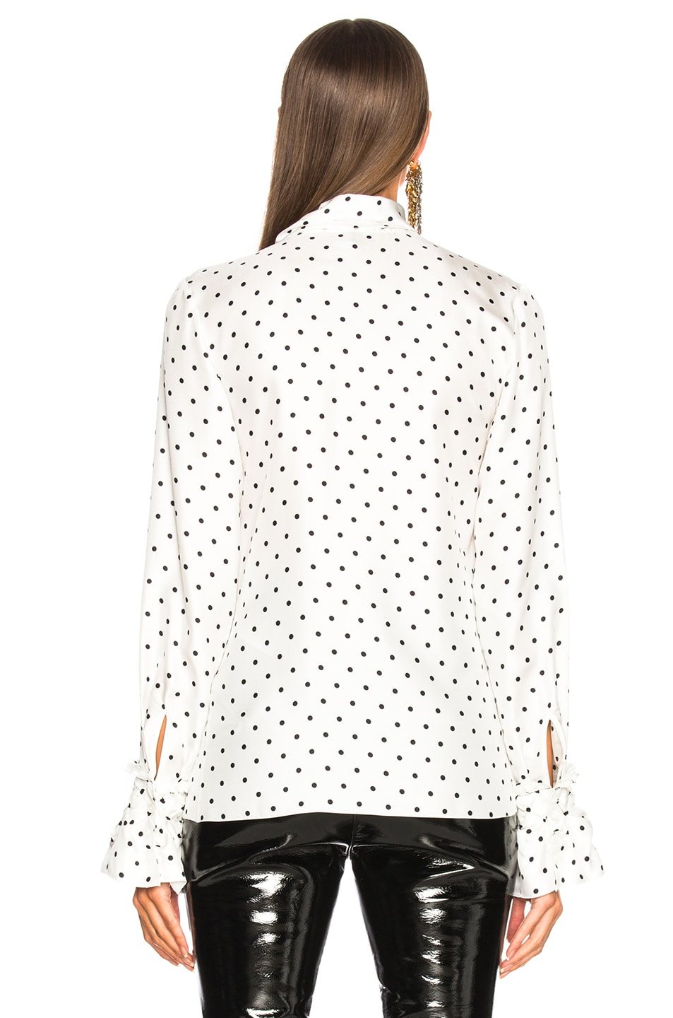 Image 3 of Loewe Dot Lavalliere Blouse in White