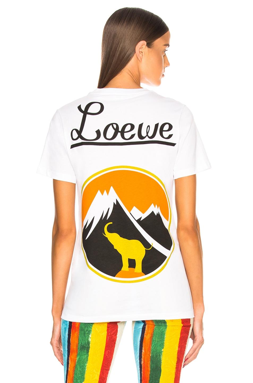Loewe Mount Elephant T Shirt In White Fwrd