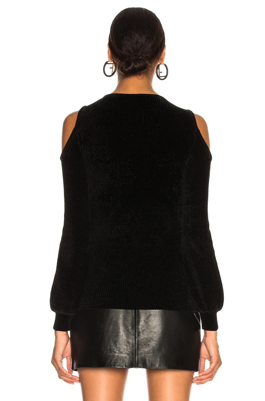 Image 4 of Loewe Off Shoulder Velvet Top in Black