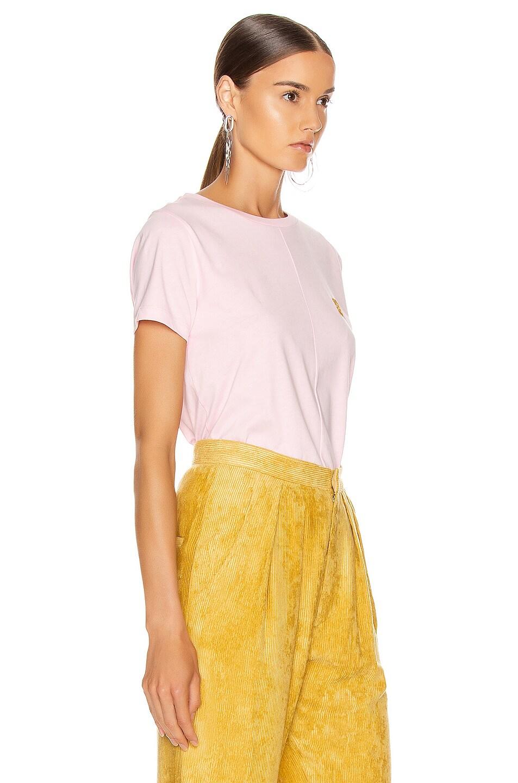 Image 3 of Loewe Asymmetric T Shirt in Pale Pink