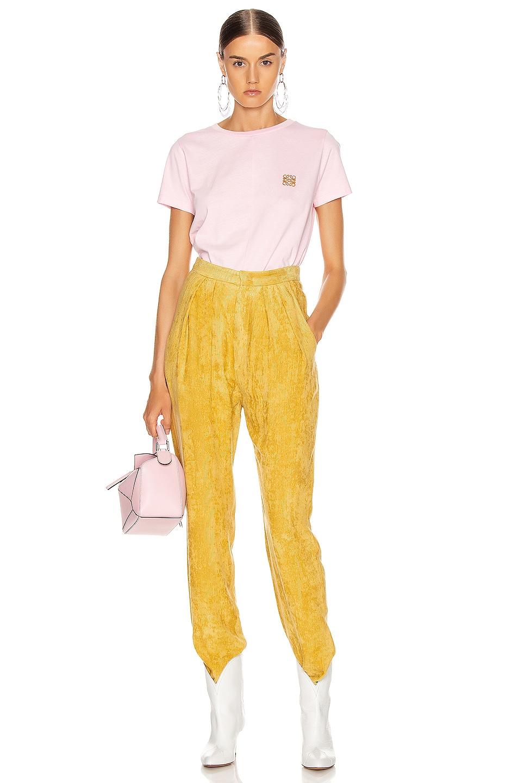 Image 5 of Loewe Asymmetric T Shirt in Pale Pink