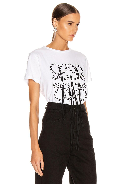 Image 3 of Loewe Anagram Stitch T Shirt in Ecru