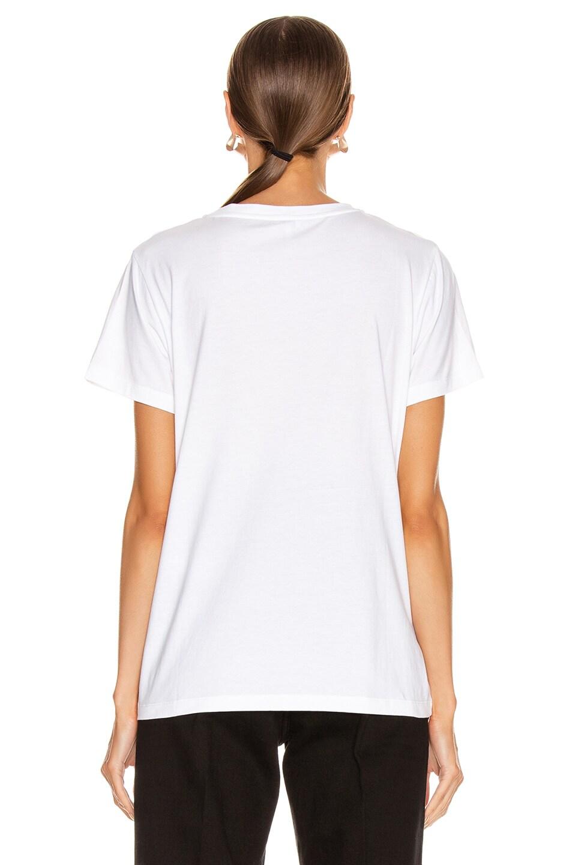 Image 4 of Loewe Anagram Stitch T Shirt in Ecru