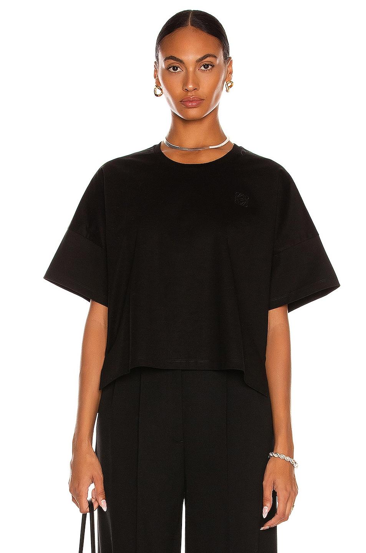 Image 1 of Loewe Short Oversize Anagram T-Shirt in Black