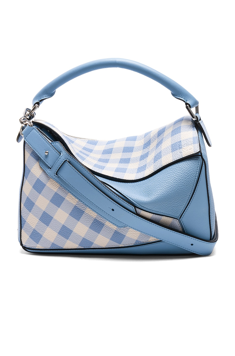 Blue Gingham Puzzle Bag Loewe Buy Cheap Visit New xeC9Xh