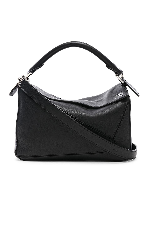 Image 1 of Loewe Puzzle Small Bag in Black