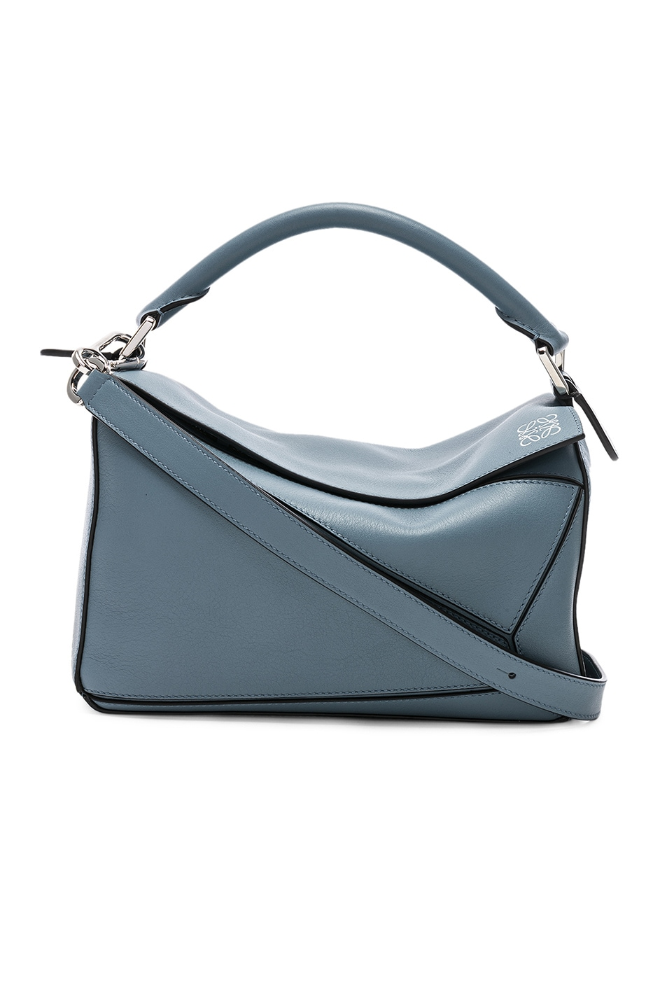 Image 1 of Loewe Puzzle Small Bag in Stone Blue