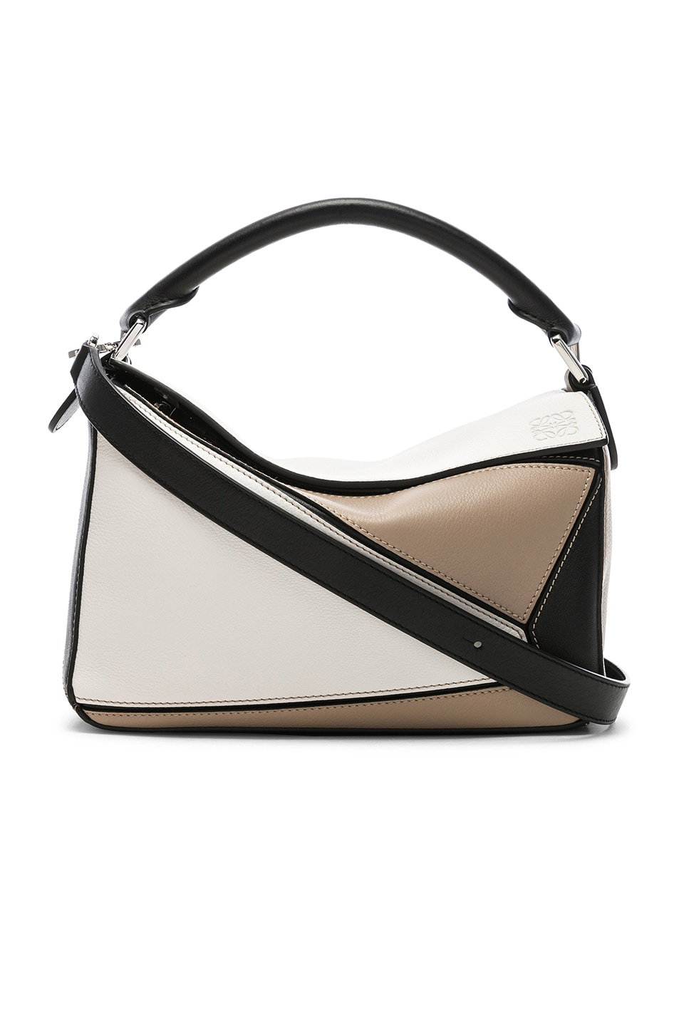 Image 1 of Loewe Puzzle Small Bag in Soft White & Sand