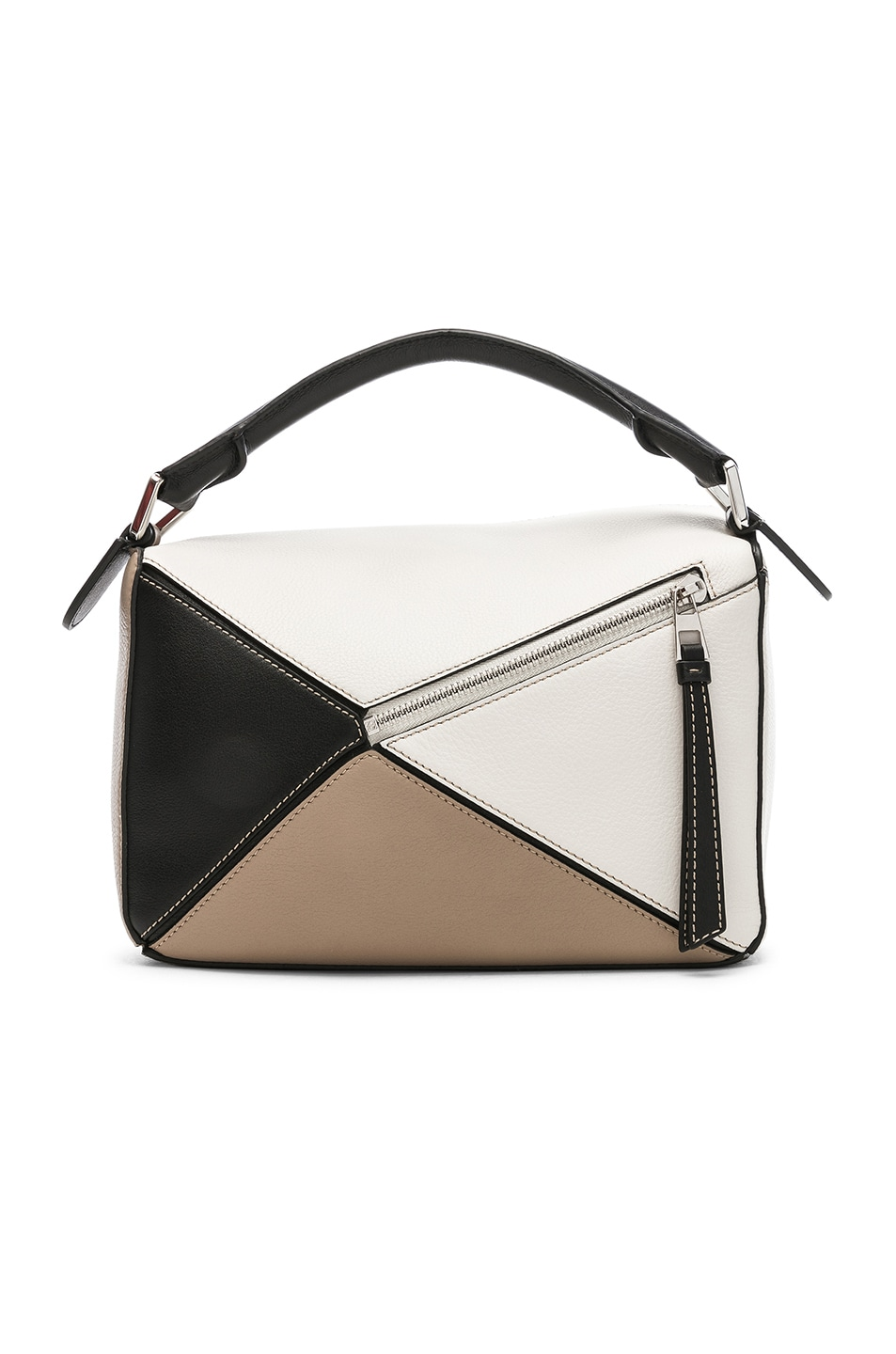 Image 3 of Loewe Puzzle Small Bag in Soft White & Sand
