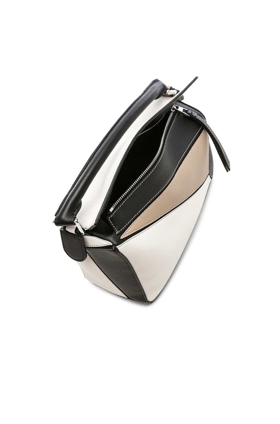 Image 5 of Loewe Puzzle Small Bag in Soft White & Sand