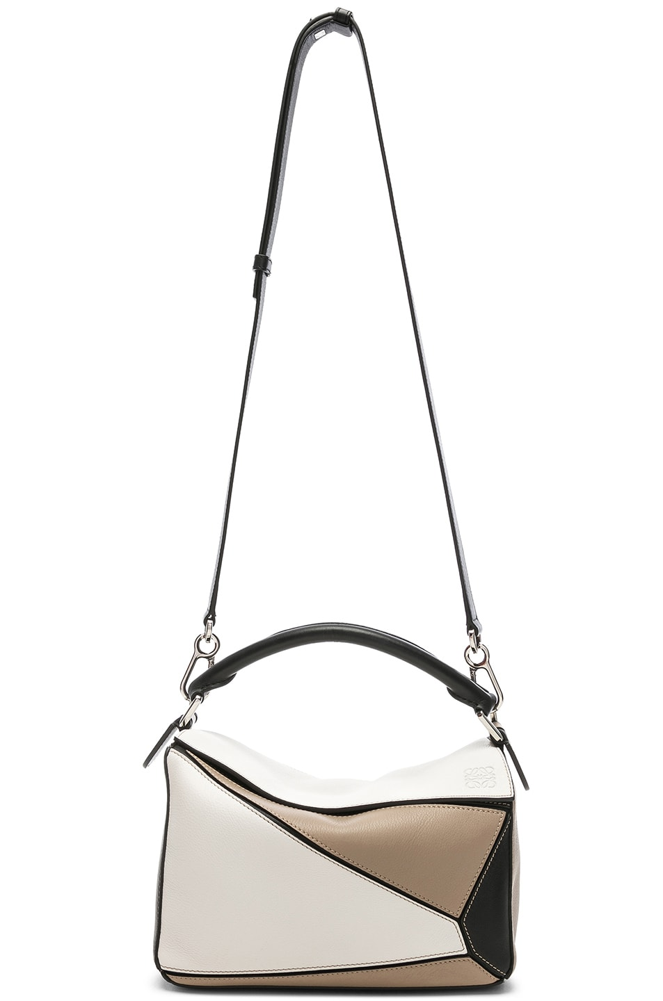Image 6 of Loewe Puzzle Small Bag in Soft White & Sand