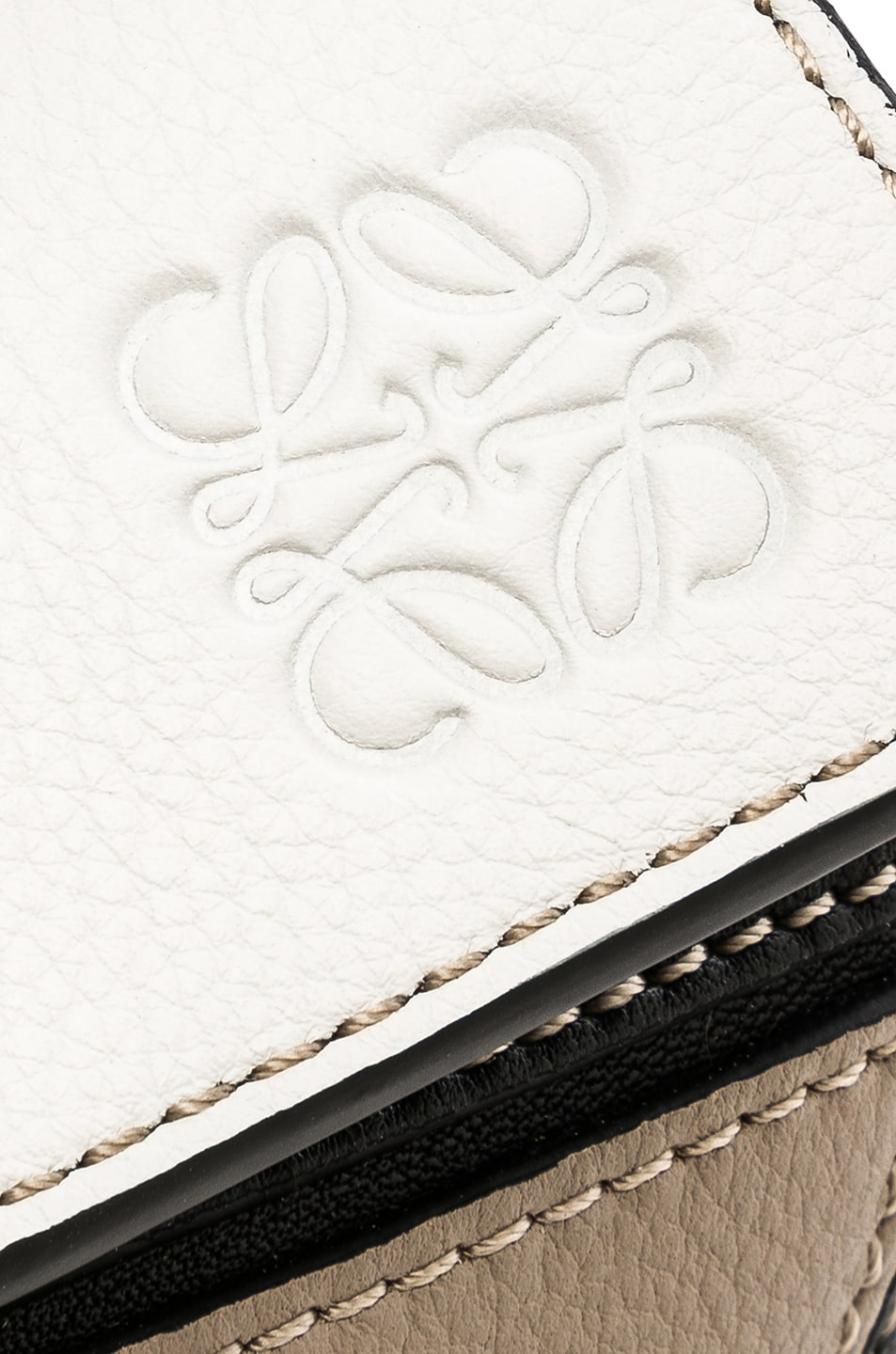Image 8 of Loewe Puzzle Small Bag in Soft White & Sand