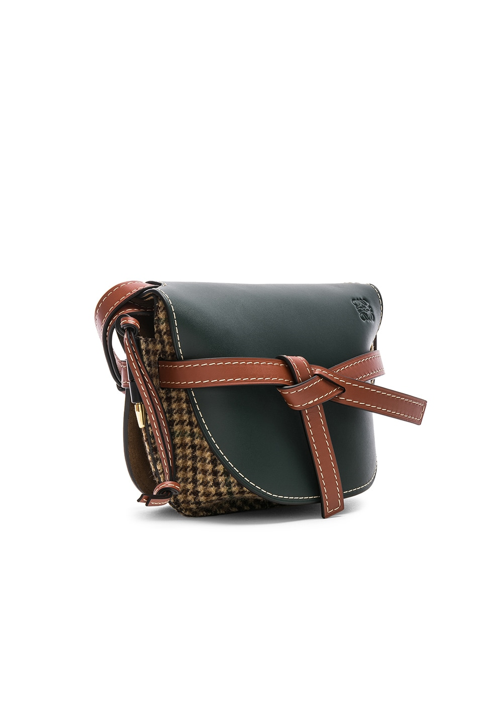 e121644555daf Image 4 of Loewe Gate Tweed Small Bag in Cypress   Tan