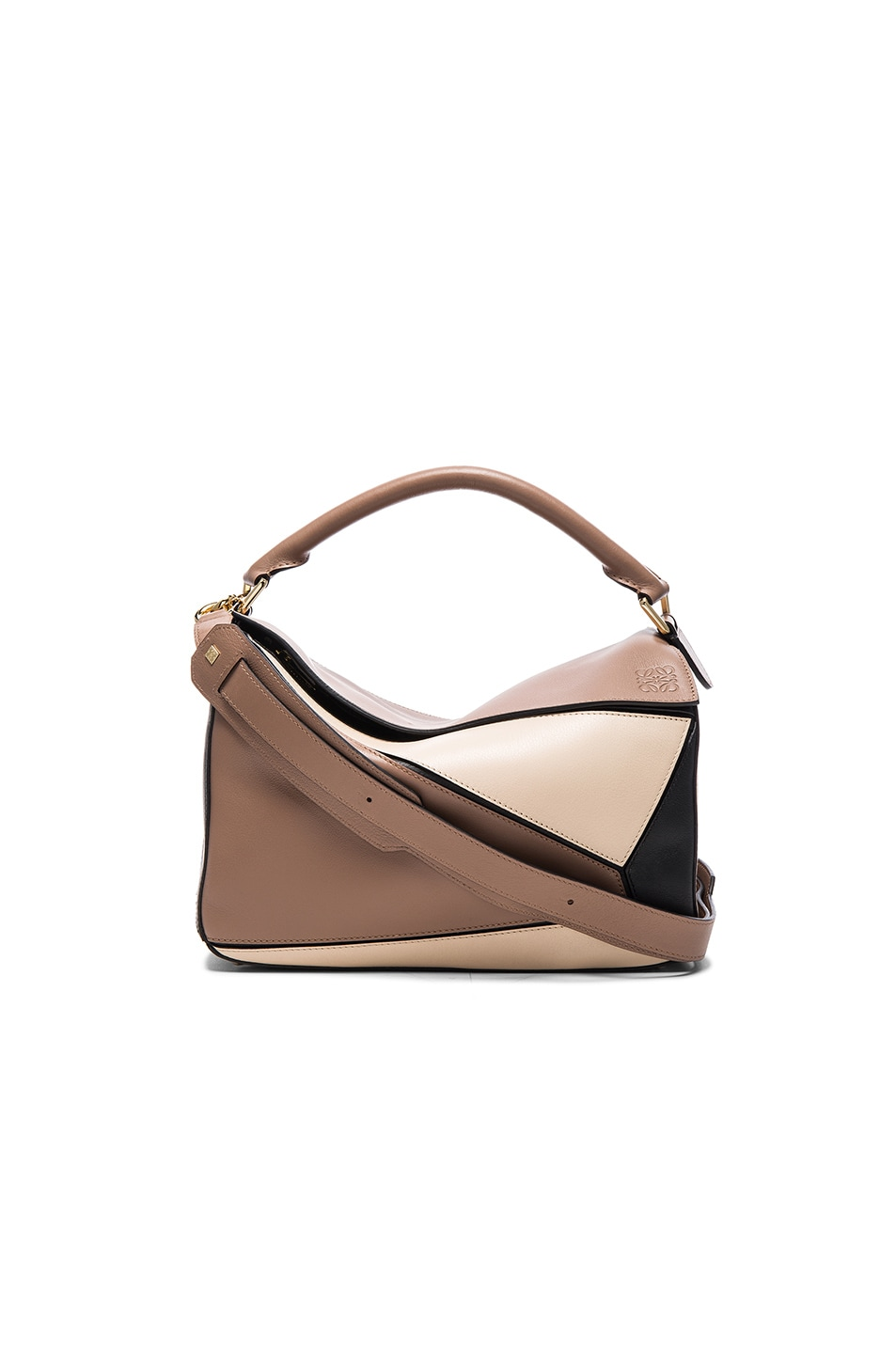 Image 1 of Loewe Puzzle Bag in Black & Hazelnut
