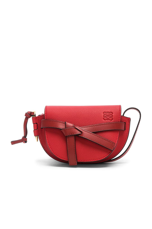 Image 1 of Loewe Gate Mini Bag in Scarlet Red & Burnt Red