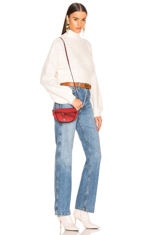 Image 2 of Loewe Gate Mini Bag in Scarlet Red & Burnt Red