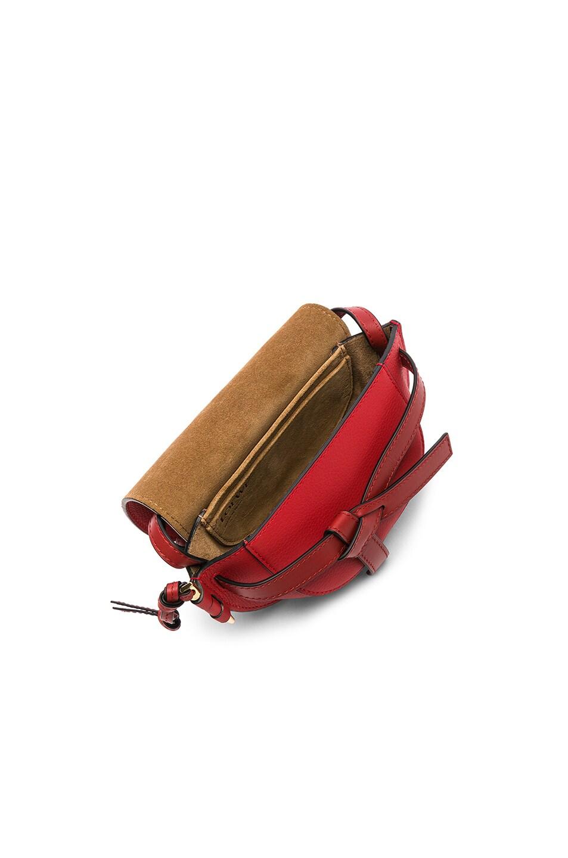 Image 5 of Loewe Gate Mini Bag in Scarlet Red & Burnt Red
