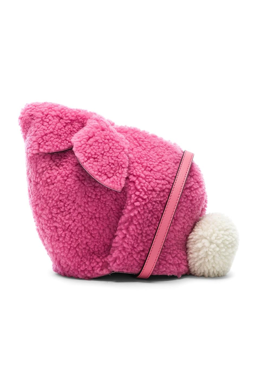 Image 1 of Loewe Shearling Bunny Mini Bag in Wild Rose