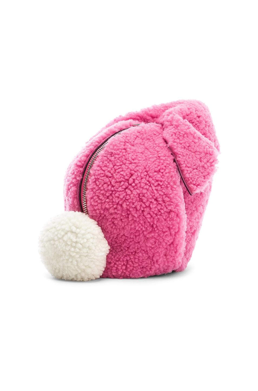 Image 4 of Loewe Shearling Bunny Mini Bag in Wild Rose