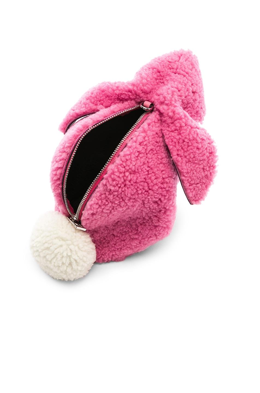 Image 5 of Loewe Shearling Bunny Mini Bag in Wild Rose