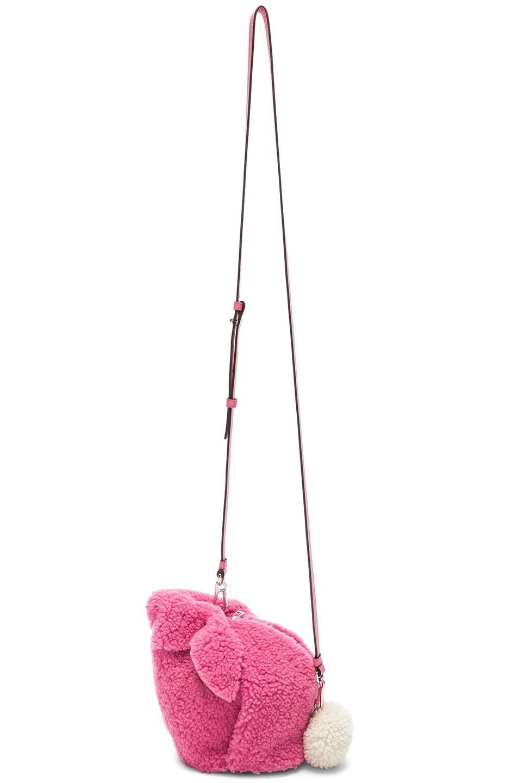 Image 6 of Loewe Shearling Bunny Mini Bag in Wild Rose