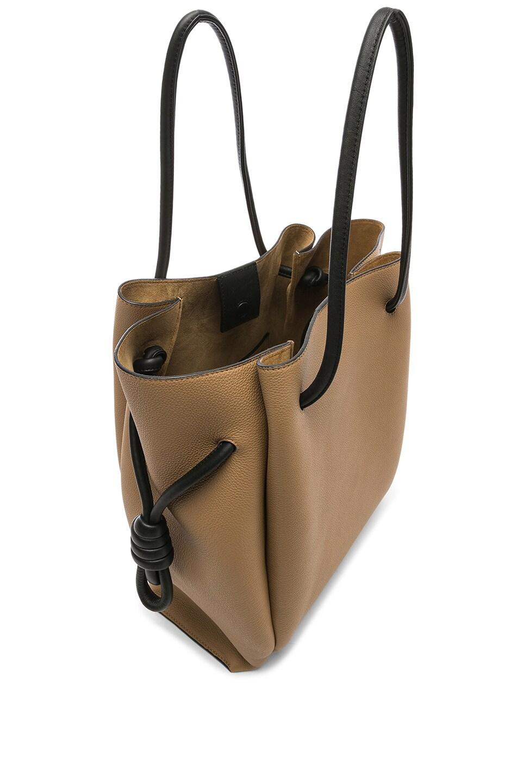 Image 5 of Loewe Flamenco Knot Tote Bag in Mocca & Black