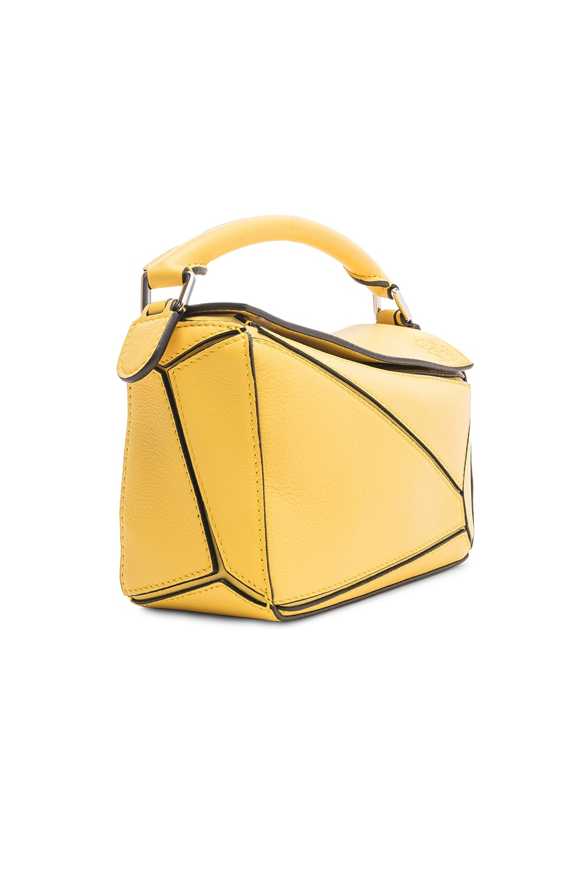 Image 4 of Loewe Puzzle Mini Bag in Yellow