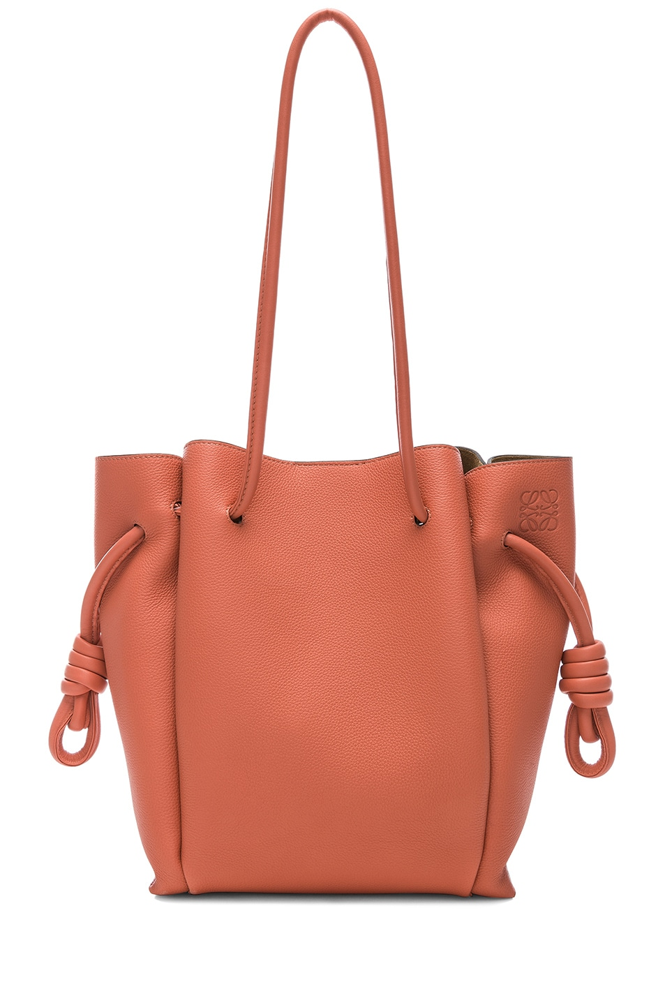 Image 1 of Loewe Flamenco Knot Small Tote in Pink Tulip