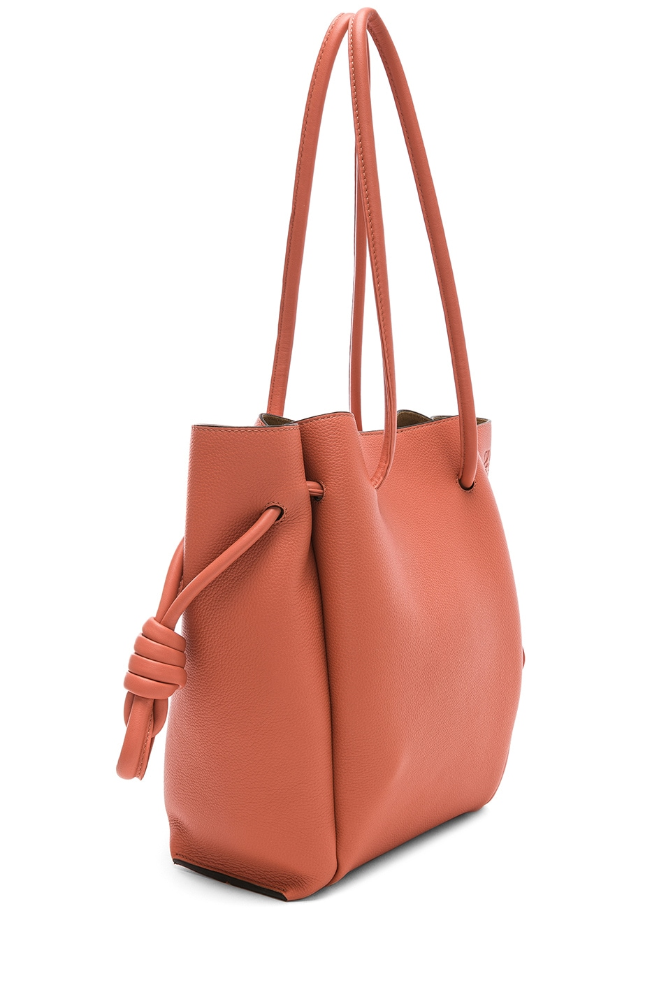 Image 3 of Loewe Flamenco Knot Small Tote in Pink Tulip