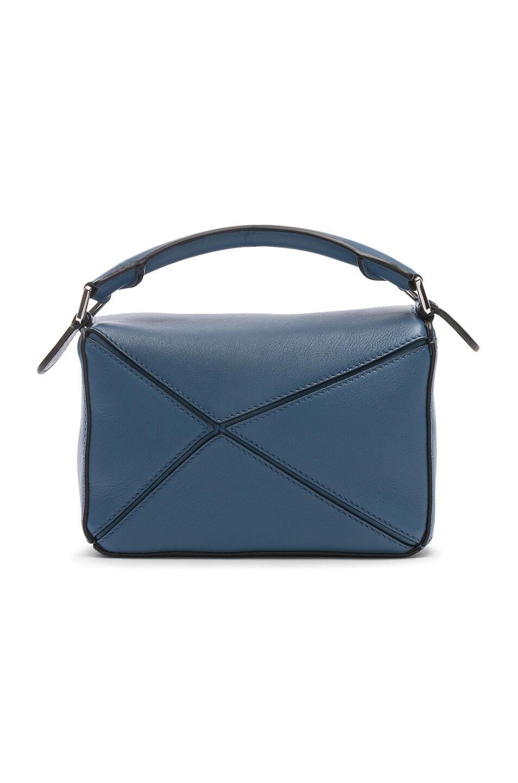 Image 3 of Loewe Puzzle Mini Bag in Varsity Blue