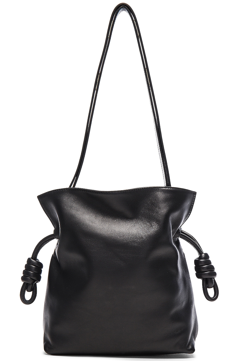 Image 1 of Loewe Flamenco Knot Bag in Black