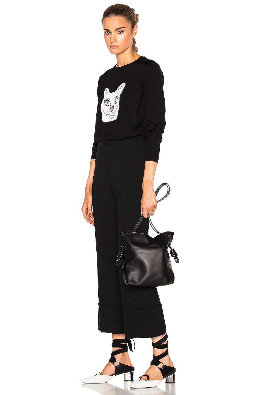 Image 2 of Loewe Flamenco Knot Bag in Black
