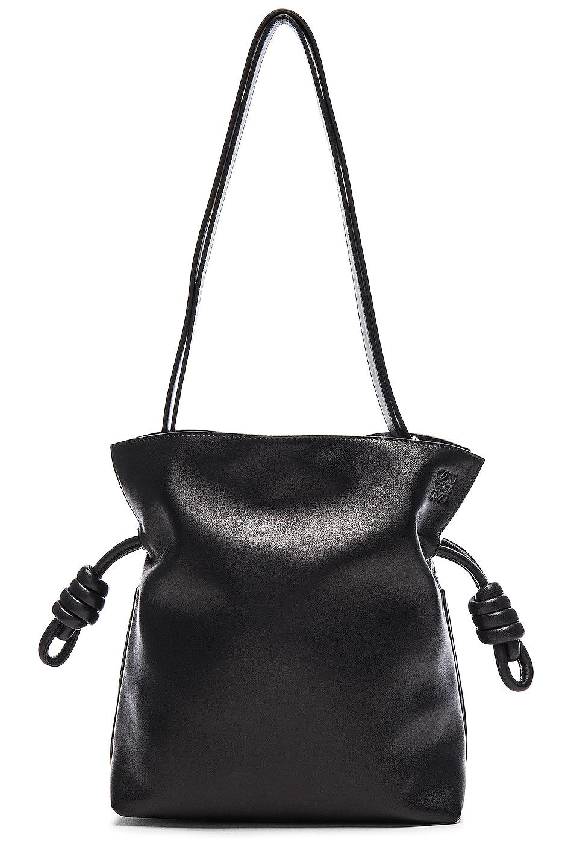 Image 3 of Loewe Flamenco Knot Bag in Black