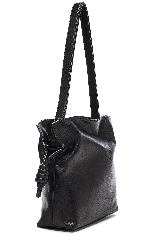 Image 4 of Loewe Flamenco Knot Bag in Black