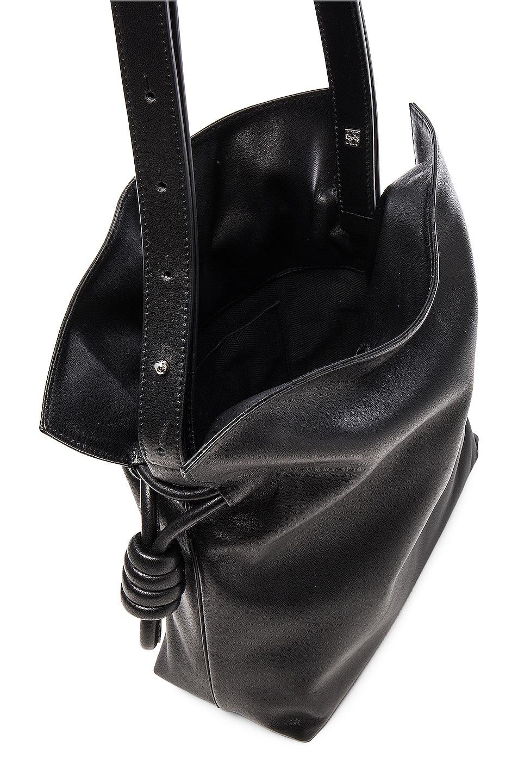 Image 5 of Loewe Flamenco Knot Bag in Black