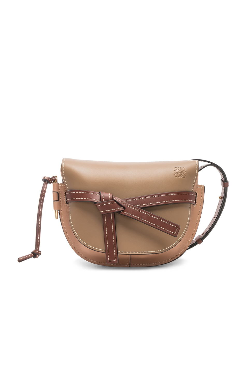 Image 1 of Loewe Gate Small Bag in Mocca & Powder